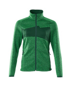 18155-951-33303 Knitted Jumper with zipper - grass green/green