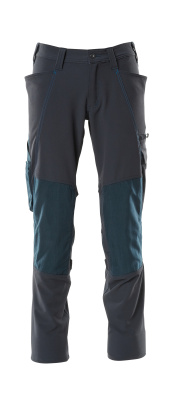 18179-511-010 Trousers with kneepad pockets - dark navy