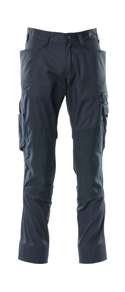 18379-230-010 Trousers with kneepad pockets - dark navy