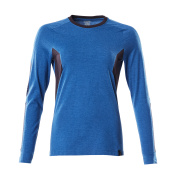 18391-959-91010 T-shirt, long-sleeved - azure blue/dark navy