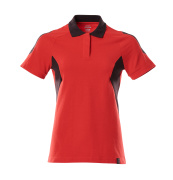 18393-961-20209 Polo shirt - traffic red/black