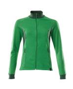 18494-962-33303 Sweatshirt with zipper - grass green/green