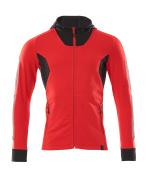 18584-962-20209 Hoodie with zipper - traffic red/black