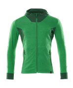 18584-962-33303 Hoodie with zipper - grass green/green