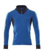 18584-962-01091 Hoodie with zipper - dark navy/azure blue