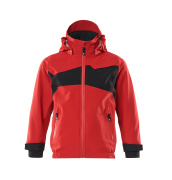 18901-249-20209 Outer Shell Jacket for children - traffic red/black