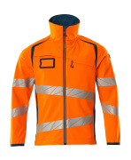 19002-143-1444 Softshell Jacket - hi-vis orange/dark petroleum