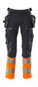 19131-711-01014 Trousers with holster pockets - dark navy/hi-vis orange