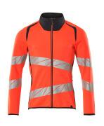 19184-781-14010 Sweatshirt with zipper - hi-vis orange/dark navy