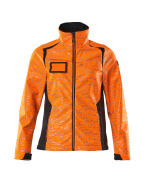 19212-291-14010 Softshell Jacket - hi-vis orange/dark navy