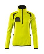 19353-316-1709 Fleece Jumper with half zip - hi-vis yellow/black