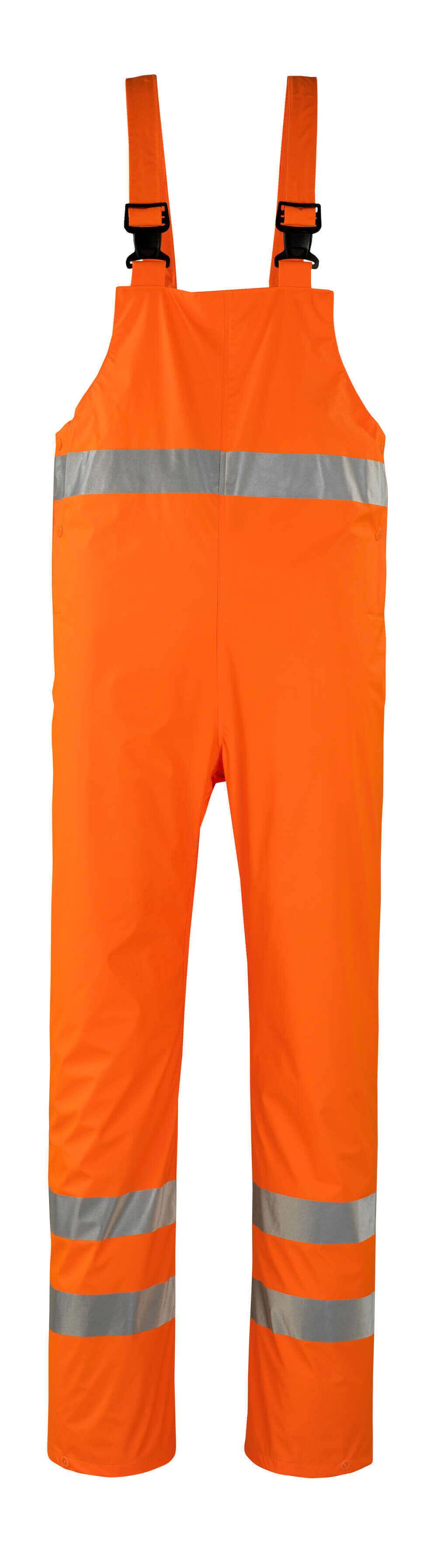 50103-814-14 Rain Bib & Brace - hi-vis orange