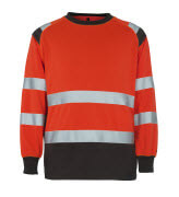 50110-854-A49 Sweatshirt - hi-vis red/dark anthracite