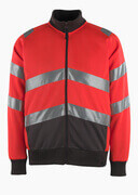 50116-950-A49 Sweatshirt with zipper - hi-vis red/dark anthracite