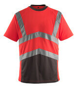 50118-949-A49 T-shirt - hi-vis red/dark anthracite