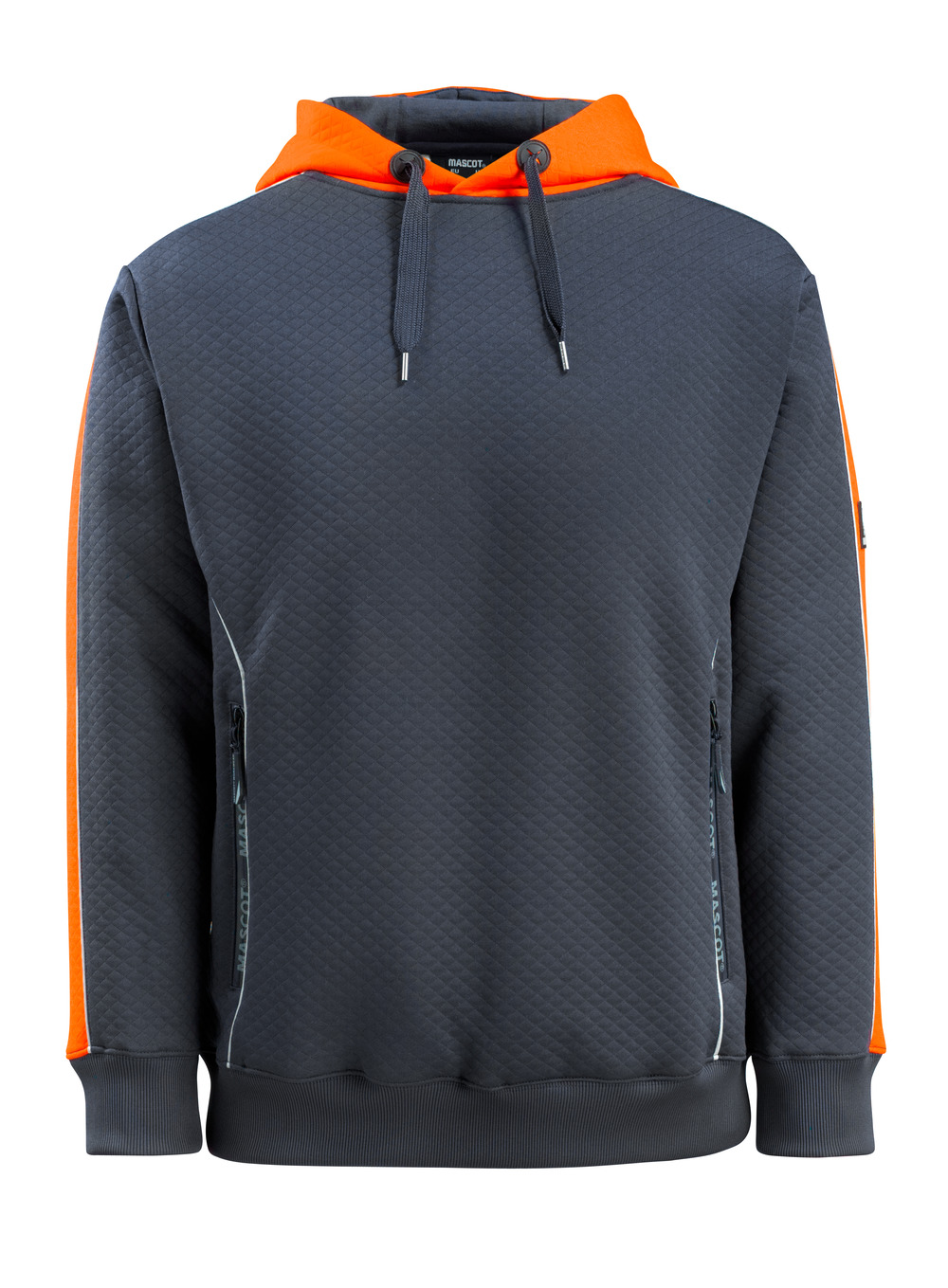 50124-932-01014 Hoodie - dark navy/hi-vis orange