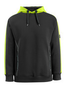 50124-932-0917 Hoodie - black/high-visibility hi-vis yellow