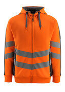 50138-932-1418 Hoodie with zipper - hi-vis orange/dark anthracite