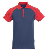 50302-260-12 Polo Shirt with chest pocket - navy/red