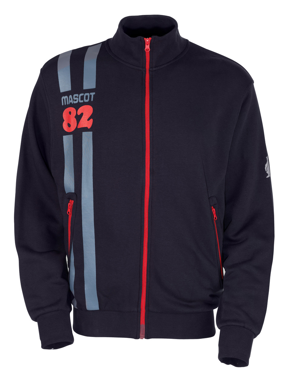 50422-191-010 Sweatshirt with zipper - dark navy