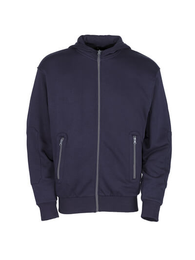 50423-191-01 Hoodie with zipper - navy
