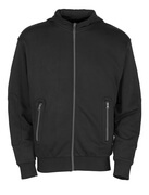 50423-191-09 Hoodie with zipper - black