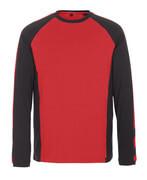 50568-959-0209 T-shirt, long-sleeved - red/black