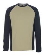 50568-959-5509 T-shirt, long-sleeved - light khaki/black