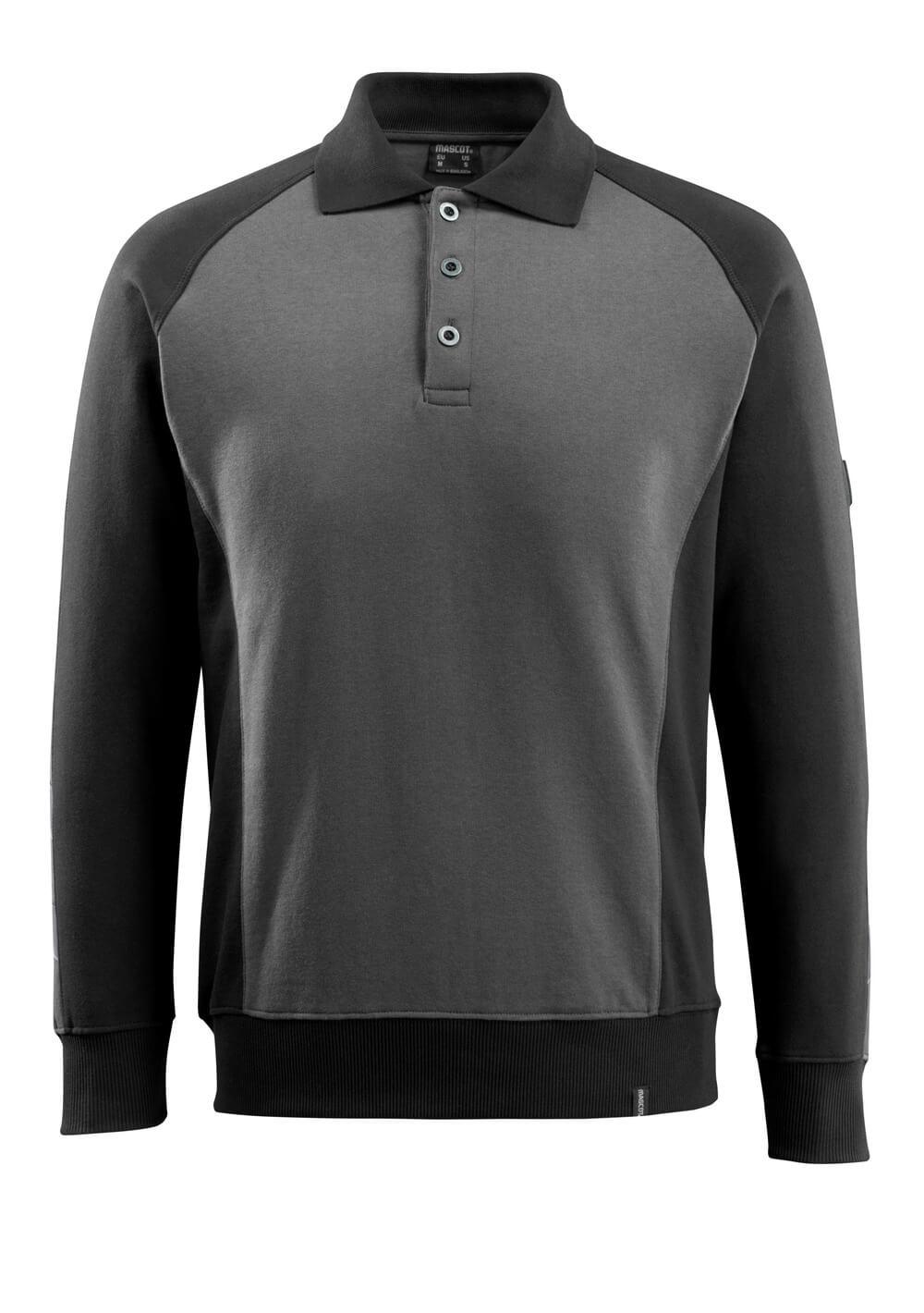 50610-962-1809 Polo Sweatshirt - dark anthracite/black