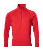 50611-971-02 Sweatshirt with half zip - red