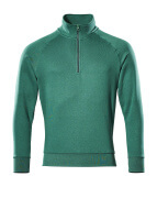 50611-971-03 Sweatshirt with half zip - green