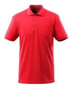 51586-968-202 Polo Shirt with chest pocket - traffic red