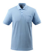 51586-968-71 Polo Shirt with chest pocket - light blue