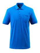 51586-968-91 Polo Shirt with chest pocket - azure blue