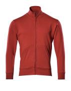 51591-970-02 Sweatshirt with zipper - red