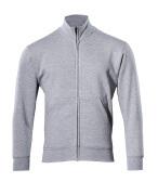 51591-970-08 Sweatshirt with zipper - grey-flecked