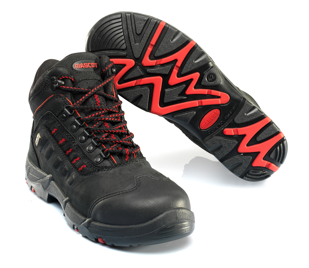 F0025-901-0902 Safety Boot - black/red