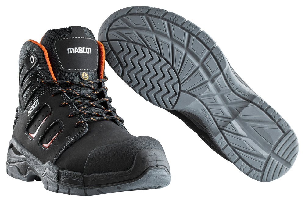 F0116-937-09140 Safety Boot - black/dark orange