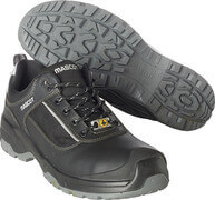 F0126-774-09880 Safety Shoe - Black/Silver