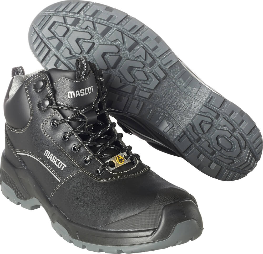 F0128-775-09 Safety Boot - black