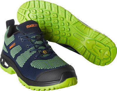 F0131-849-01033 Safety Shoe - dark navy/lime green